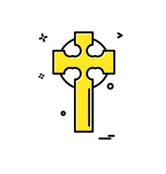cross icon design vector image