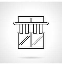 Curtains for cafe flat line icon vector