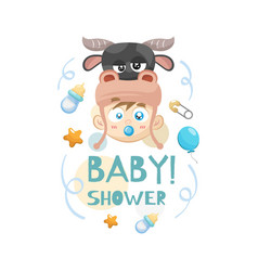 decorative baby shower concept vector image