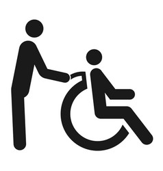 disabled sign with a wheelchair black symbol vector image