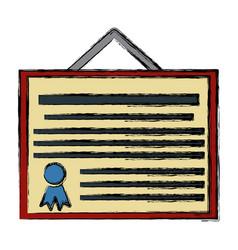 education diploma symbol vector image