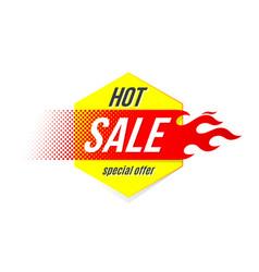 emblem hot sale price offer deal labels template vector image