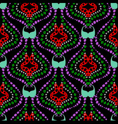 ethnic paisley seamless pattern tribal vector image