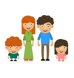 Family With Two Children vector image