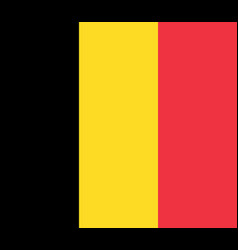 flag of belgium flag with official colors vector image