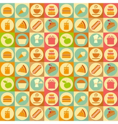 Flat food seamless vector