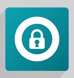 Flat lock icon vector