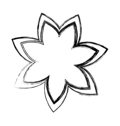 flower drawing isolated icon vector image