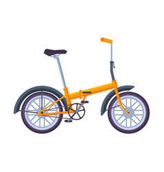 Folding bicycle ecological sport transport vector