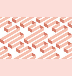 geometric abstract pale rose seamless pattern vector image