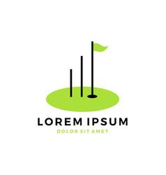 golf course training chart logo vector image
