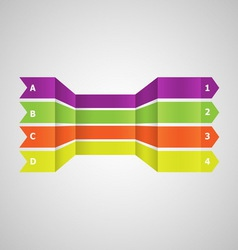 Horizontal colorful lines in perspective vector