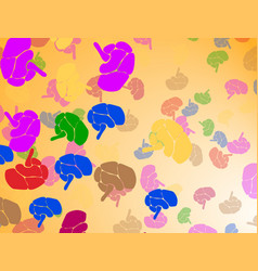 Human brain vintage from meyers vector