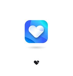 Icon heart medical health love cardio valentines vector