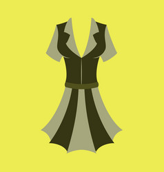 Icon in flat design fashion clothes summer dress vector