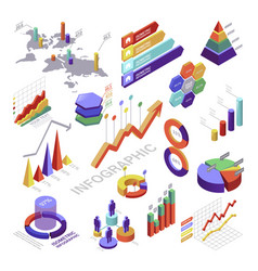 Infographic and diagram isometric elements vector