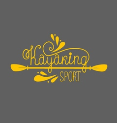 Kayaking background with lettering vector