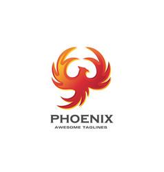 luxury phoenix logo concept vector image
