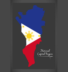 national capital region map of the philippines vector image