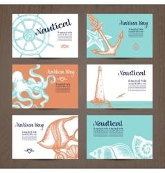 Nautical Card Set vector
