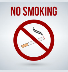 no smoking sign isolated on white background vector image