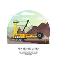 Orthogonal Mining Industry Concept vector