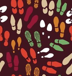 Otisak cipela pattern BOJE2 vector image
