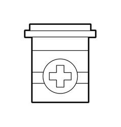 plastic container medicine cross pharmaceutical vector image