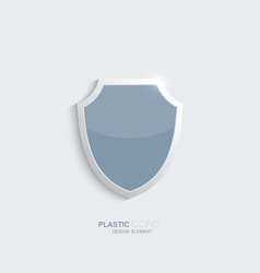 Plastic shield icon vector