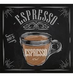 Poster espresso chalk vector
