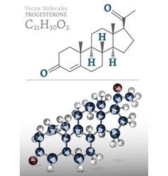 Progesterone molecule image vector