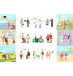 retiree for grandparents vector image