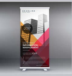 roll up banner presentation template with vector image