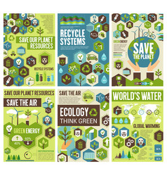 Save environment earth air and nature vector