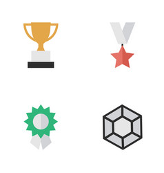 Set simple awards icons elements brilliant vector