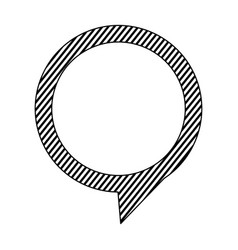 Silhouette chat circle bubble icon vector