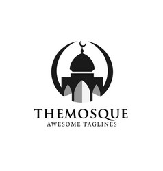 simple minimalist mosque building logo vector image