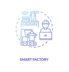Smart factory concept icon vector