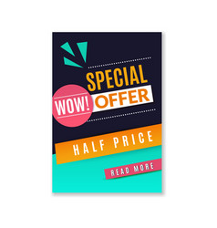 special offer discount poster promotional fashion vector image