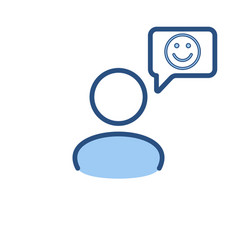 Speech bubble user icon communication vector