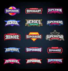 Sport emblem typography set super logo for your vector