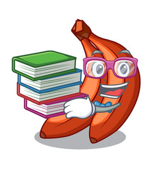 Student with book banana merah in the shape vector
