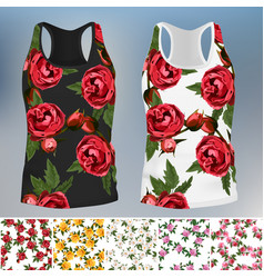 t-shirt with an trendy rose design vector image