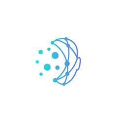 technology human head logo icon design vector image