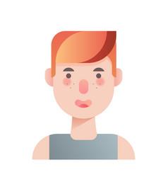 Teenage boy gradient vector