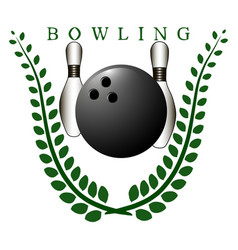 the theme bowling vector image