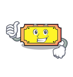 thumbs up ticket character cartoon style vector image