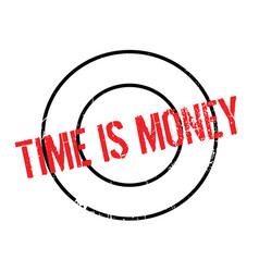 Time is money rubber stamp vector