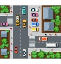 Top view of urban vector