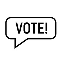 vote banner icon simple style vector image